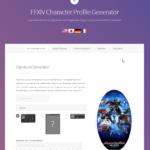 FFXIV Profile Generator